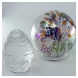 Glass Eye Ball Sand & Shells & Sullivans Glass Egg