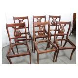Set of 6 Vintage Harp Back Dining/Side Chairs