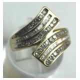10K Diamond Dinner Ring w/ Baguettes & Melee
