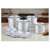 La Cuisine 12 pc Aluminum Stockpot Set