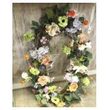 """Floral Wall Wreath 39"""" wide or tall"""