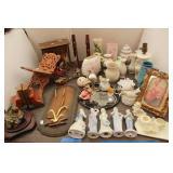Bargain Lot: Figurines, Book Holder, Vases,