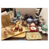Bargain Lot: Oriental Decor-Vases, Shoes, Books