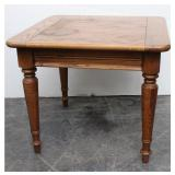 """Square Oak End-Table 26"""" x 26"""" x2 2"""" tall"""