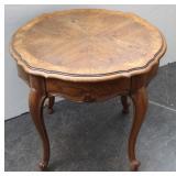 Oval Oak Victorian End Table