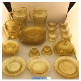 Yellow / Amber Depression Glassware