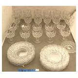 Heavy Pressed Goblets / Glasses & Plates