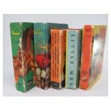 (5) Vintage Kids Little Big Books Western and more