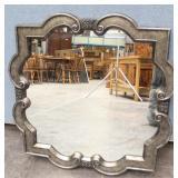 Decorative Platinum Silver Frame Mirror