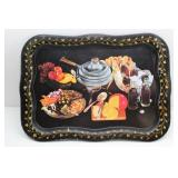 1950 Coca Cola TV Tray Black Serving Tray Chafing