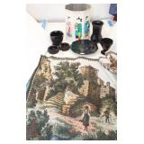 Scenic Tapestries, Black  Amethyst Glass Glass