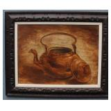 Copper Teapot Painting on Canvas