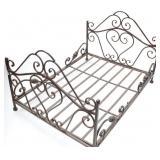 Ornate Metal Doll Bed