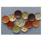 """Colorful Metal """"Plate Collection"""" Wall Art Decor"""