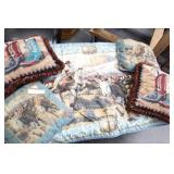 Set of 5 Western Pillows/Throws
