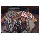 Set of 4 Southwestern Woven Pillows