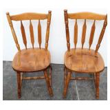 Set of 2 Walnut Dining Chairs S-560/109