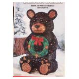 "Black Bear 210 Led Christmas Lights 29"" Tall"