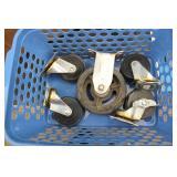 Caster Wheels & Basket