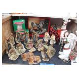2 Nativity Scene Figurines & Christmas Decor