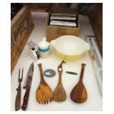 Bargain Lot: Mixing Bowl, Wood Spoons, Books