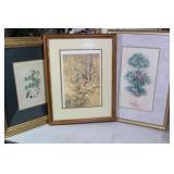 Three Beautiful Framed Prints
