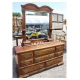 """8 Drawer Dresser w/ Mirror 64"""""""