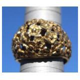 """Edwardian """"For-Get-Me-Not"""" 14K Gold Ring"""