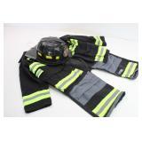 Childs Fireman Suit & Hat Teetot & Co. size 5-6