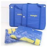 New 2 Wrangler Fleece Throws & 2 Wrangler Bags