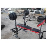 Weider Pro 245 Weight Bench w/80 lbs of Weights