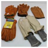 (5) Pairs of Lined Leather Gloves