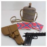 Canteen, Key Holder, Gun Holster & Coasters