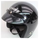 Raider Open Face Black Helmet XL