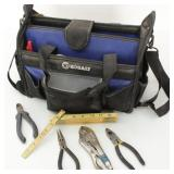 Kobalt Tool Bag w/Tools: Pliers, Wrenches,