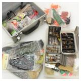 Fishing Flies and Lots of Supplies & Tools to