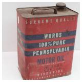 Vintage Wards 100% Pure Pennsylvania Motor Oil Can