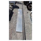 Stainless Steel Slab & 2 long metal pipes