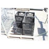(7) Darigold Square Plastic Crates