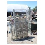Q Large Metal Rolling Crate w/Shelves