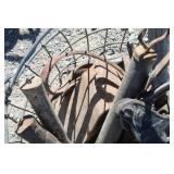 Vintage Metal Wire Basket w/Misc. Items