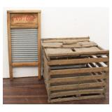 Vintage Wood Chicken Crate & Two in One Jr. Wash