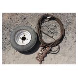 Steel Cable w/Esco Midget (4) Hooks plus