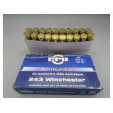 (20rds) PPU 243 Win 6,5g 100gr Cartridges