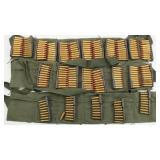 80rds 30 Carbine Clips, (3) Cloth Clip Belts,
