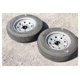 Pair of ST145R12 Trailer Tires (barely used)