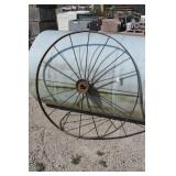 Large 53in Antique Iron Implement Wheel