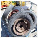 (6) Old Tires w/Cute Metal Rims