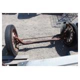Antique Buick Wood Spokes Wheels & Axle