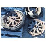 Pair of Antique Wood Spoke Car Wheels